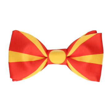 North Macedonia Flag Bow Tie