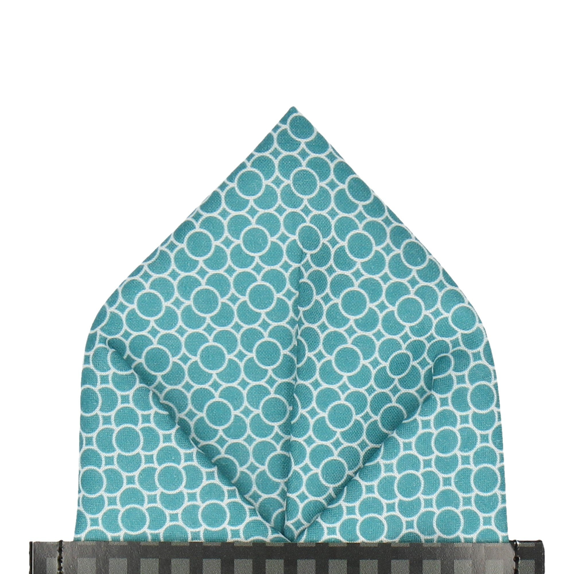 Loretto in Jade Pocket Square