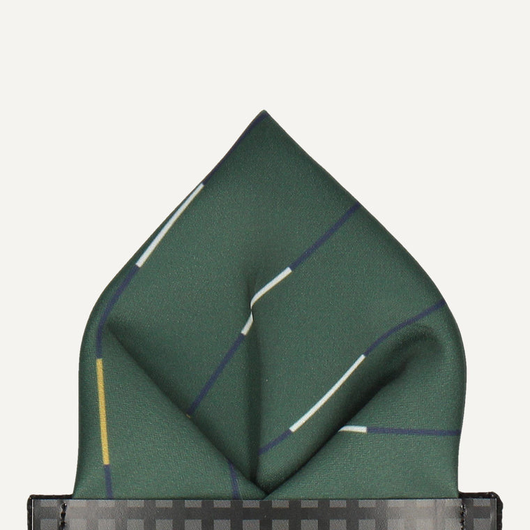 Chelsea in Racing Green Pocket Square (Outlet)
