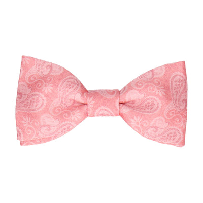 Coral Vintage Paisley Paisley Bow Tie