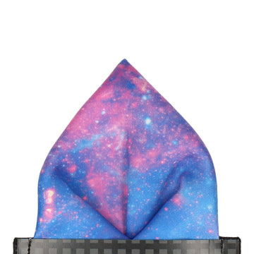 Space Galaxy Purple Nebula Pocket Square