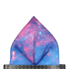 Purple Nebula Pocket Square