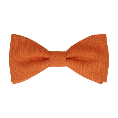 Cotton Burnt Orange Bow Tie