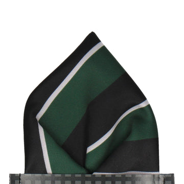 Dark Green & Navy Pocket Square