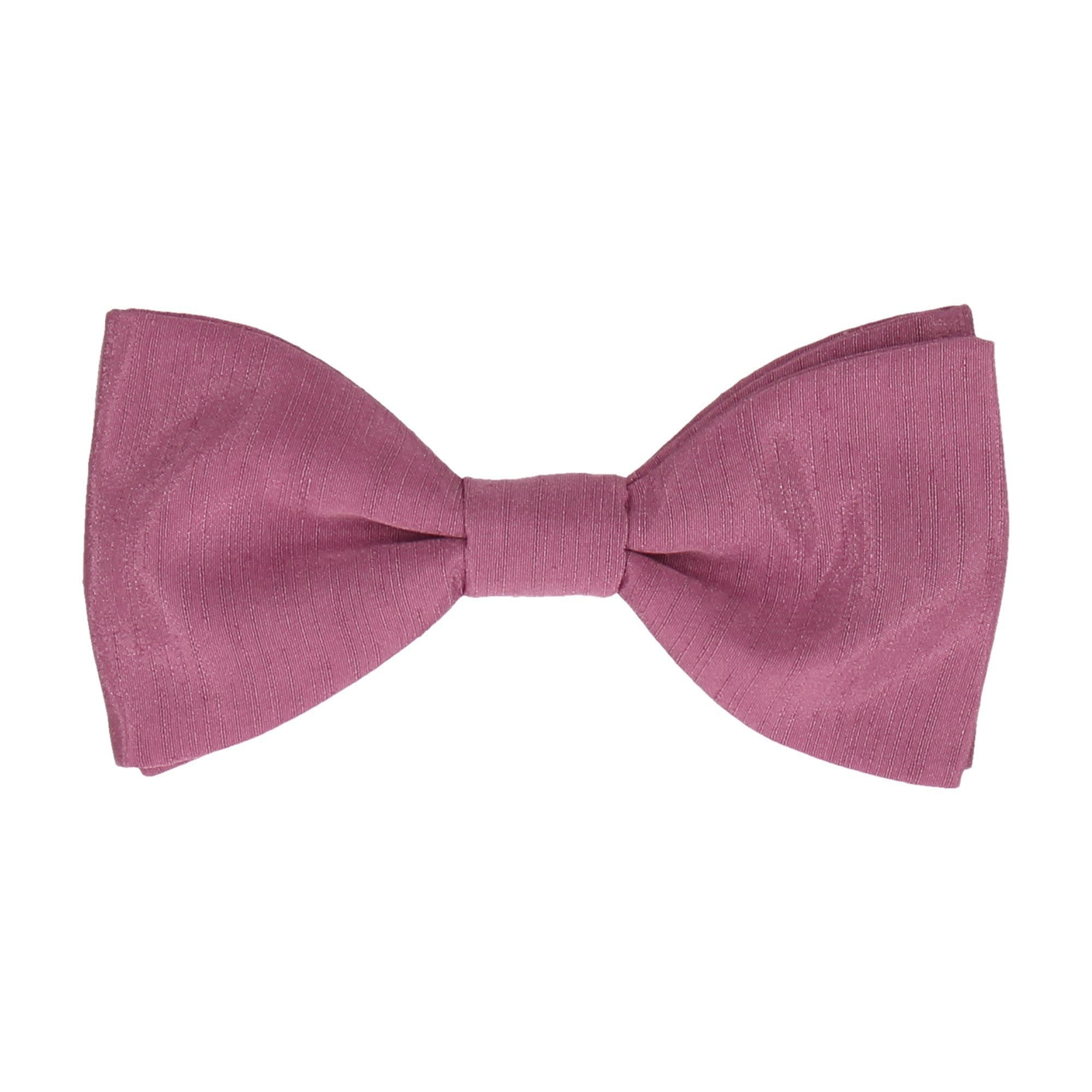 Faux Silk in Deep Rose Bow Tie