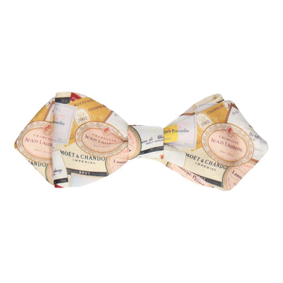 Champagne Labels Bow Tie