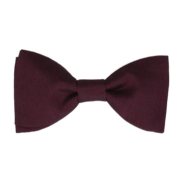 Cassis Red Faux Silk Bow Tie