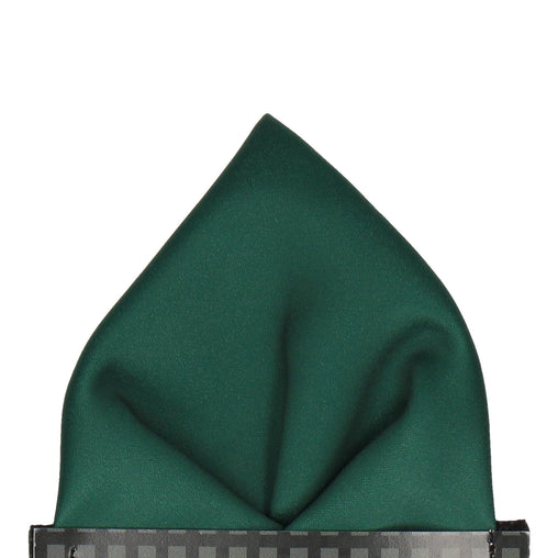 Classic in Dark Green Pocket Square