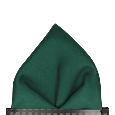 Plain Solid Dark Green Pocket Square