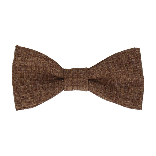 Isaac in Pecan Brown Bow Tie