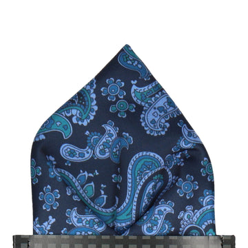 Patel in Navy & Blue Pocket Square