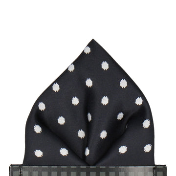 Broxton in Black Pocket Square (Outlet)