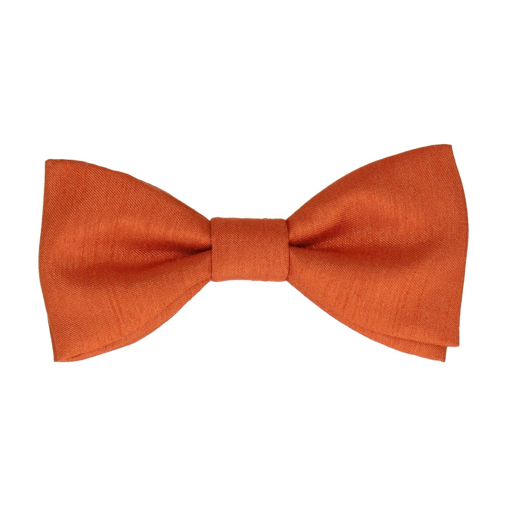 Faux Silk Copper Bow Tie