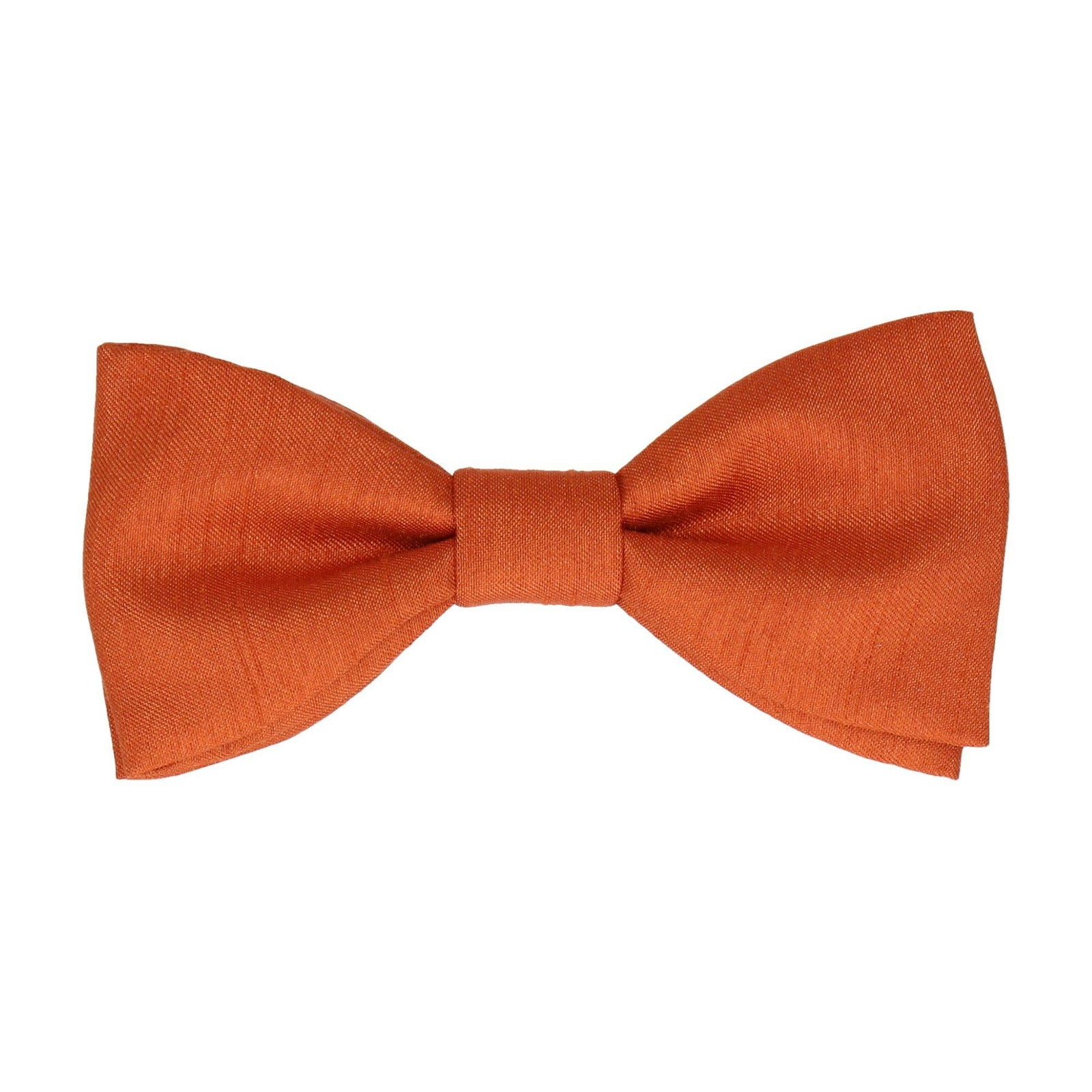 Copper Faux Silk Bow Tie