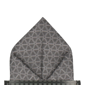 Dharma in Charcoal Pocket Square (Outlet)