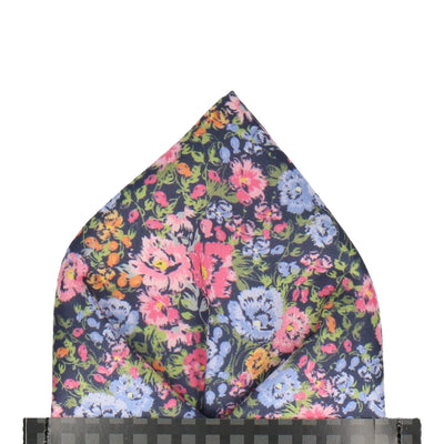Colourful Busy Floral Pocket Square