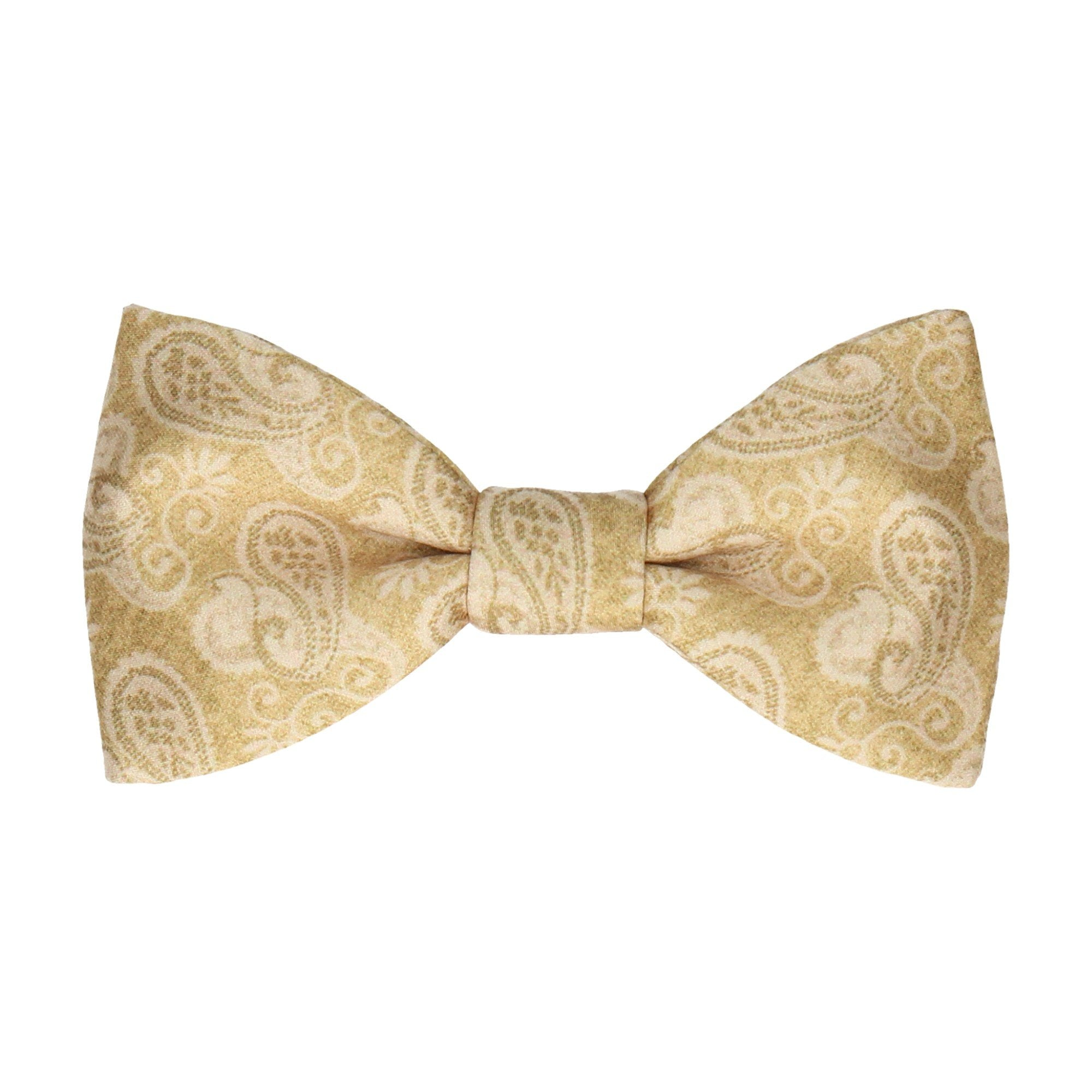 Shelley Pure Gold Paisley Bow Tie