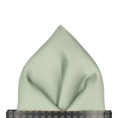 Plain Solid Sage Green Pocket Square