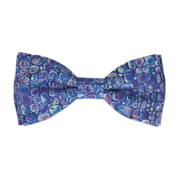 Indigo Pebbles Morris Liberty Cotton Bow Tie