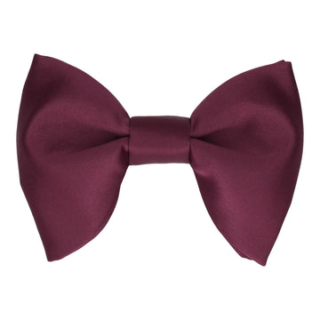 Satin Wine Red Large Evening Bow Tie