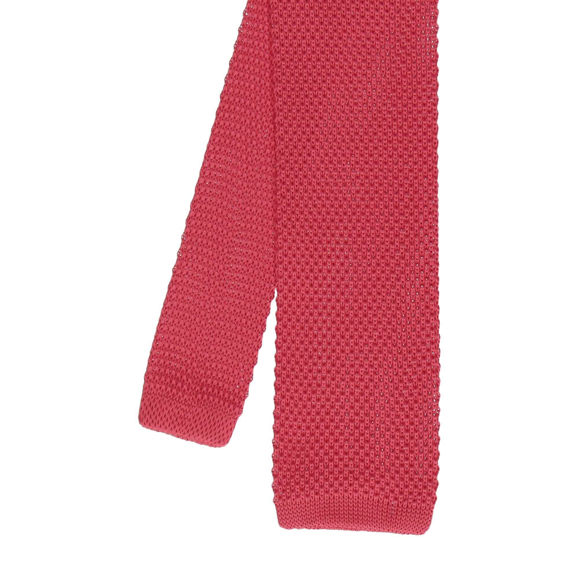Knitted Tie in Crimson