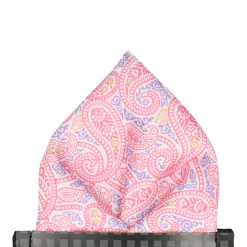 Ellington Paisley Pink Pocket Square (Outlet)