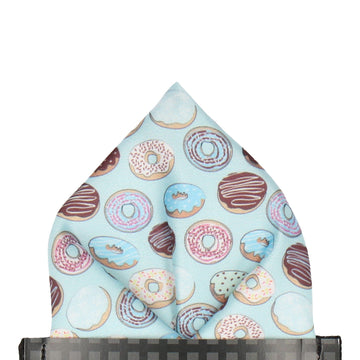 Doughnuts Donut Blue Pocket Square