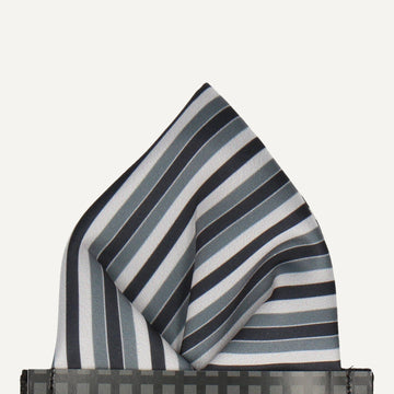 Tintagel in Grey Pocket Square (Outlet)
