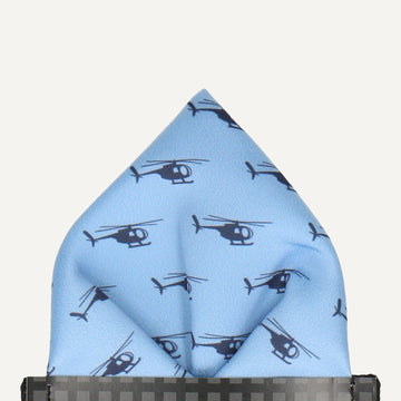 Helicopters Pocket Square (Outlet)