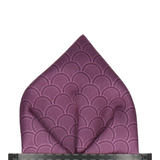 Wordsworth in Aubergine Pocket Square