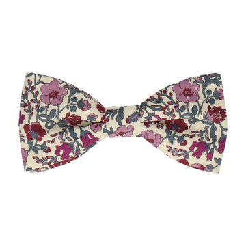 Plum Purple Floral Meadow Liberty Cotton Bow Tie