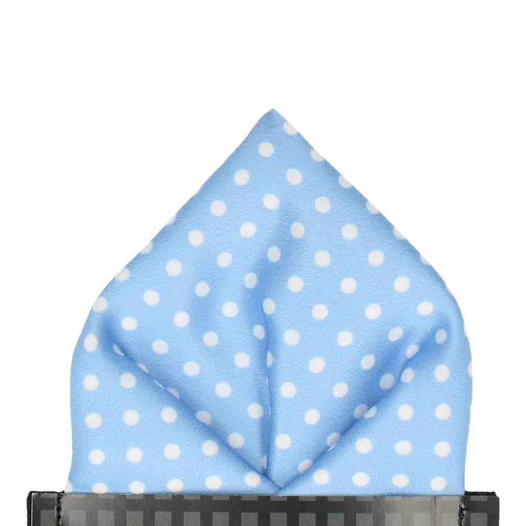 Serenity Light Blue Polka Dots Pocket Square