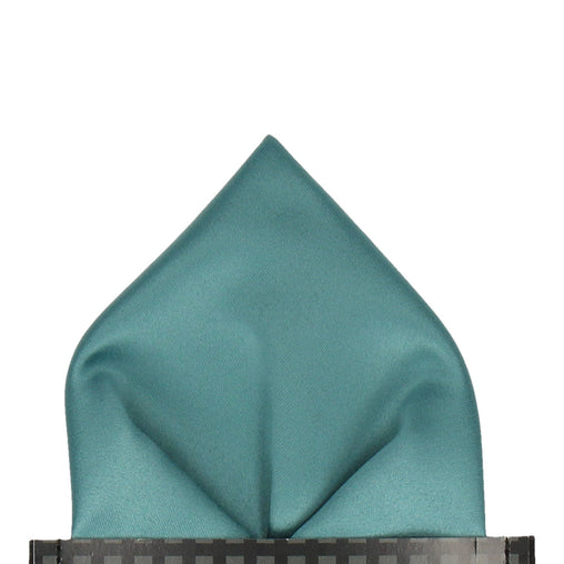 Satin in Sea Green Pocket Square