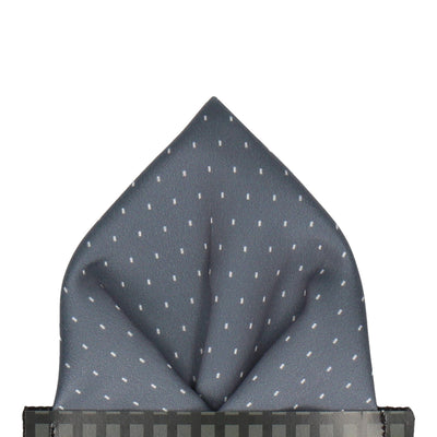 Grey Simple Fleck Pocket Square