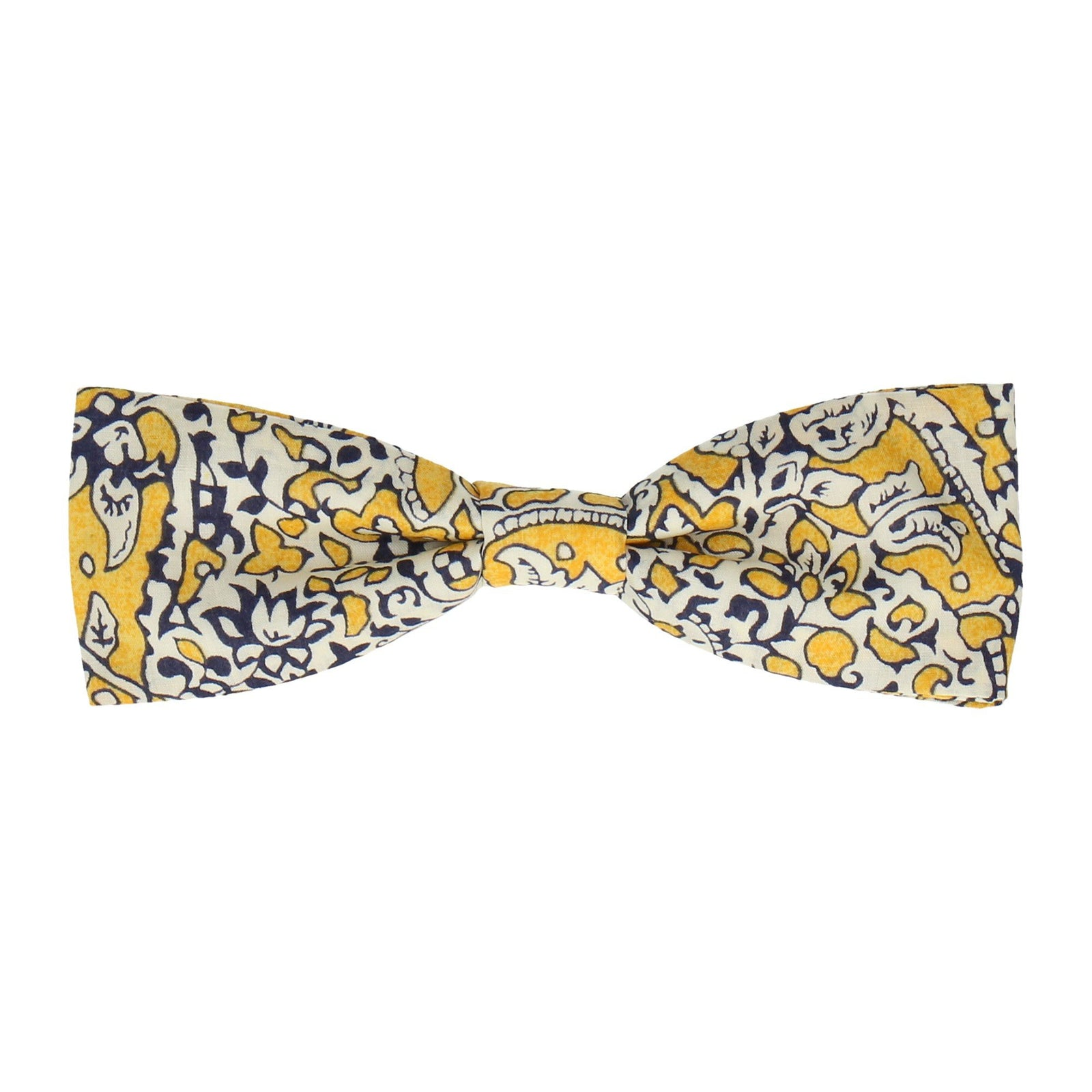 Yellow Lagos Laurel Liberty Cotton Bow Tie