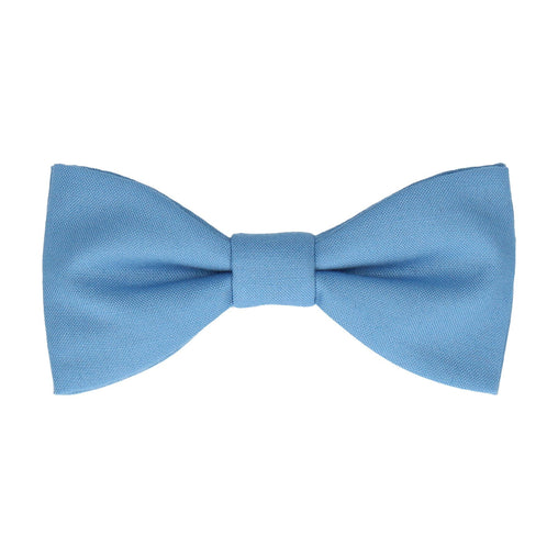 Cotton in Summer Sky Blue Bow Tie