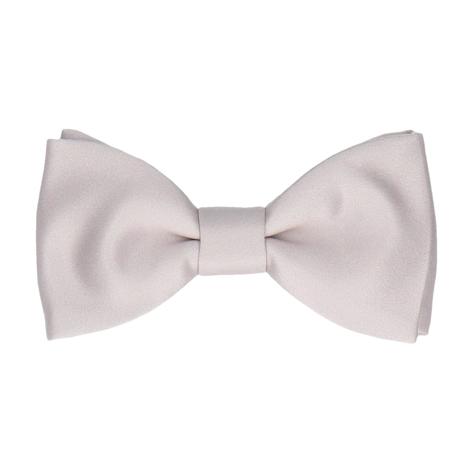 Plain Solid Pure Silver Bow Tie