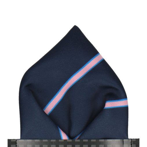 Doxford in Navy & Pink Pocket Square