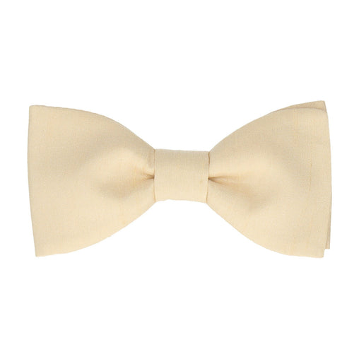 Faux Silk in Oyster Bow Tie