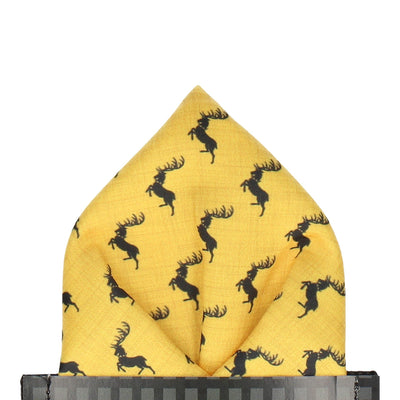 Stag Sigil House Baratheon Pocket Square