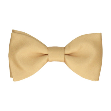 Plain Solid Pure Gold Bow Tie