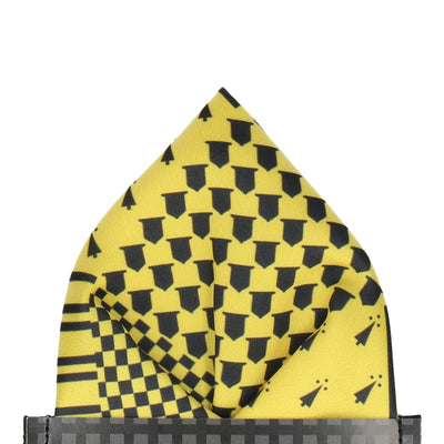 Yellow Medieval Banner House Pocket Square