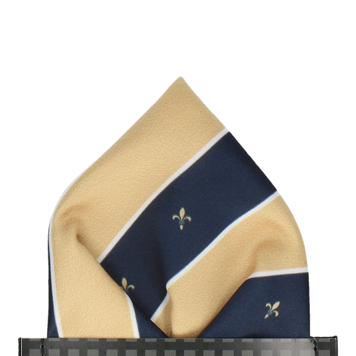 Mountbatten in Soft Gold Pocket Square