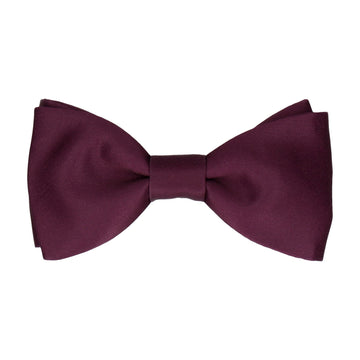 Plain Solid Carmine Dark Red Bow Tie