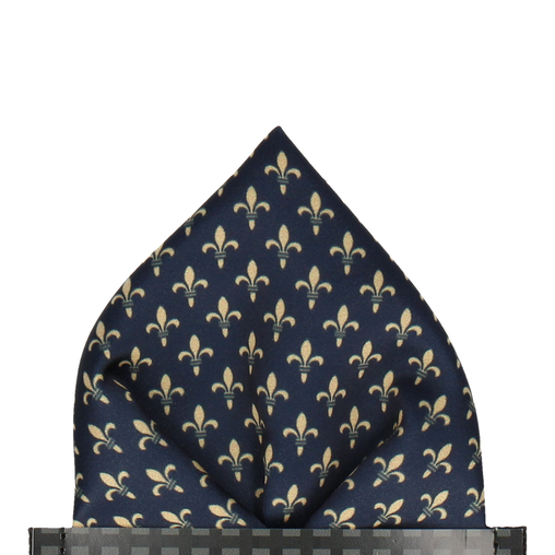 Fleur De Lis in Gold Pocket Square