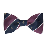 Striped Fleur de Lis Purple