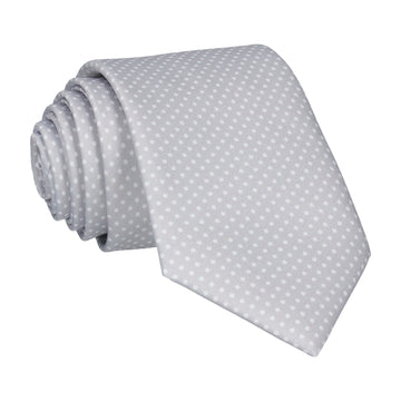 Platinum Grey Tiny Dots Tie