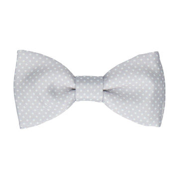 Platinum Grey Tiny Dots Bow Tie