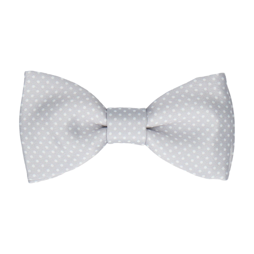 Dickinson Dots Platinum Bow Tie