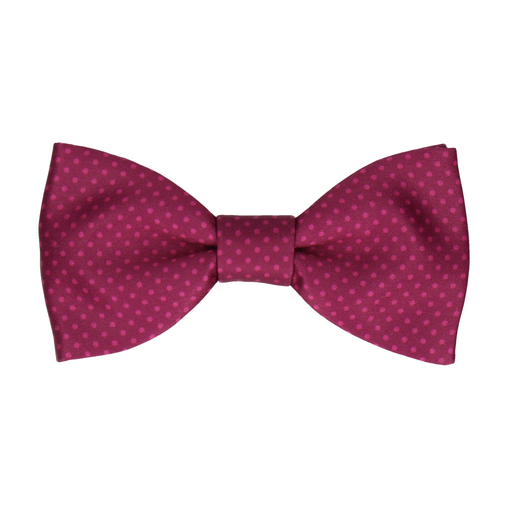 Dickinson Dots Mulberry Bow Tie